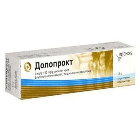 Купить Долопрокт (Doloproct) мазь (крем) 15г в Москве