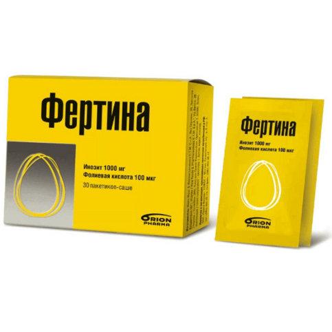 Купить Фертина Инозит   Фолиевая кислота пакетик-саше 3г 30штук в Москве