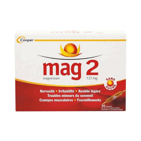 Купить Маг 2 (Mag 2) Магний 122мг амп. для питья б/сахара №30 в Москве