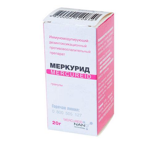 Купить Меркурид гран. гомеопатические 20г в Москве