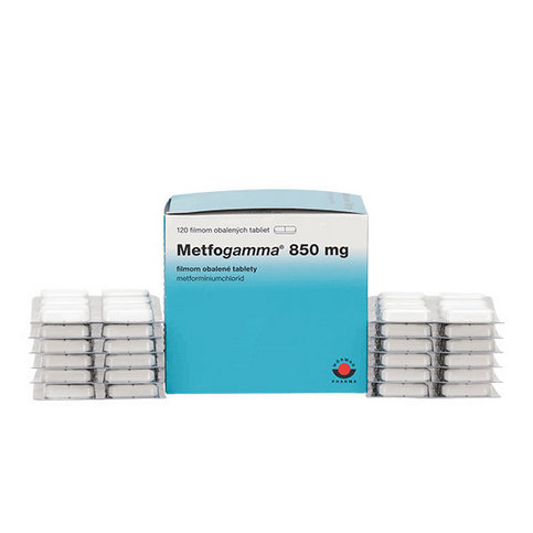 Купить Метфогамма 850мг таблетки №120шт в Москве