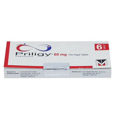 Купить Прилиджи (Priligy) Дапоксетин таблетки 60мг №6 в Москве