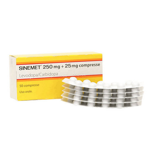 Купить Синемет (Sinemet) таблетки 250 25мг №50 в Москве