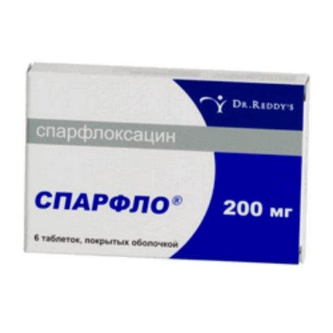 Купить Спарфлоксацин Spar (Флоксимар, Спарфло) 200мг таблетки №6 в Москве