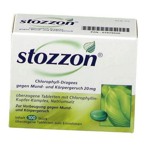 Купить Стоззон (Stozzon) хлорофилл таблетки 100шт в Москве