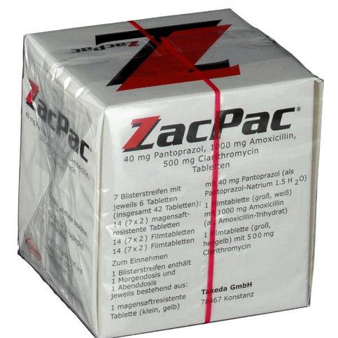 Купить ЗакПак (Zacpac, Зак Пак) набор капс. на 7 дней (Амоксициллин, Пантопразол) в Москве